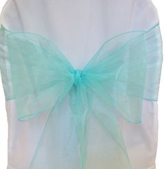 Sample Organza Sash - Tiff Blue / Aqua Blue 50518(1pc)