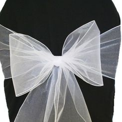 Sample Organza Sash - White(1pc)