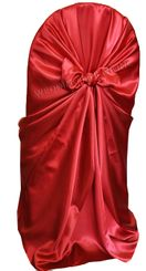Satin Universal Chair Covers - Apple Red 53508(1pc/pk)