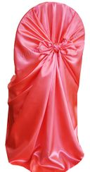 Satin Universal Chair Covers - Coral 53506(1pc/pk)