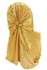 Satin Universal Chair Covers - Gold 53527(1pc/pk)