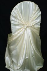 Satin Universal Chair Covers - Ivory 53502(1pc/pk)