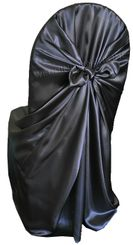 Satin Universal Chair Covers - Pewter 53560 (1pc/pk)