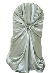 Satin Universal Chair Covers - Silver 53540(1pc/pk)