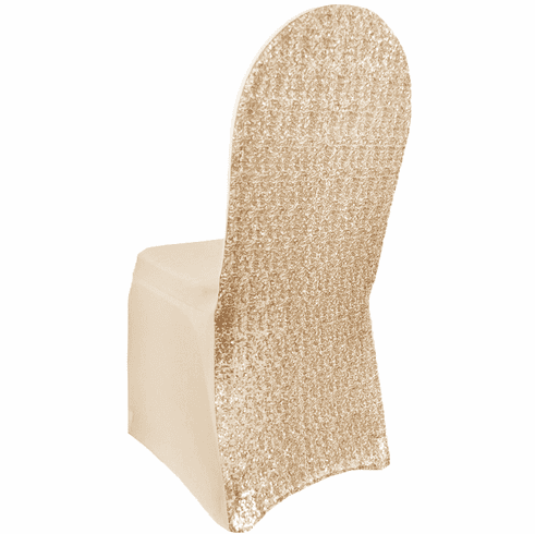Sequin Spandex Banquet Chair Covers - Champagne 00328 (1pc/pk)