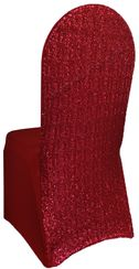 Sequin Spandex Chair Covers - Apple Red 00308 (1pc/pk)