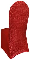 Sequin Spandex Banquet Chair Covers - Apple Red 00308 (1pc/pk)