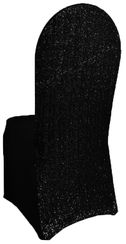 Sequin Spandex Chair Covers - Black 00339 (1pc/pk)