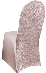 Sequin Spandex Chair Covers - Blush Pink 00315 (1pc/pk)