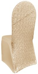 Sequin Spandex Chair Covers - Champagne 00328 (1pc/pk)