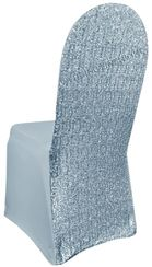 Sequin Spandex Chair Covers - Dusty Blue 00303 (1pc/pk)
