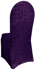 Sequin Spandex Chair Covers - Eggplant 00345 (1pc/pk)