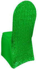 Sequin Spandex Banquet Chair Covers - Emerald Green 00338 (1pc/pk)