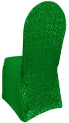 Sequin Spandex Chair Covers - Emerald Green 00338 (1pc/pk)