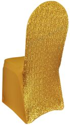Sequin Spandex Chair Covers - Gold 00327 (1pc/pk)