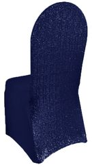 Sequin Spandex Chair Covers - Navy Blue 00323 (1pc/pk)