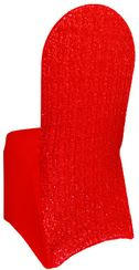 Sequin Spandex Banquet Chair Covers - Red 00312 (1pc/pk)