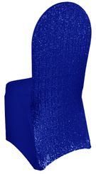 Sequin Spandex Chair Covers - Royal Blue 00322 (1pc/pk)