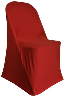 Spandex Folding Chair Covers - Apple Red 62908 (1pc/pk)