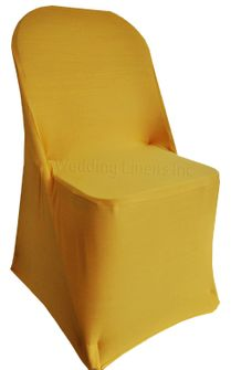 Spandex Folding Chair Covers - Gold 62927 (1pc/pk)