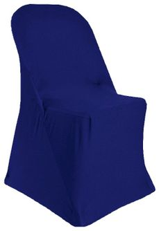Spandex Folding Chair Covers - Navy Blue 62923 (1pc/pk)