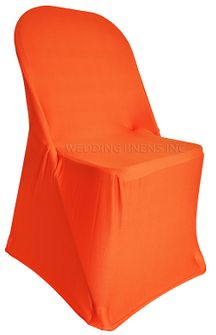 Spandex Folding Chair Covers - Orange 62933 (1pc/pk)
