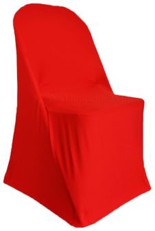 Spandex Folding Chair Covers - Red 62912 (1pc/pk)