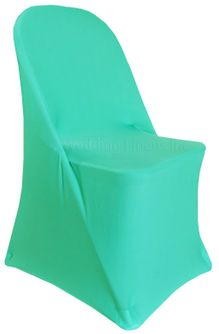 Spandex Folding Chair Covers - Tiff Blue / Aqua Blue 62918 (1pc/pk)