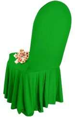 Spandex Skirt Chair Covers - Emerald Green 63238 (1pc/pk)