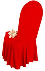 Spandex Skirt Chair Covers - Red 63212 (1pc/pk)