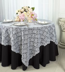 "72"" Square Lace Table Overlays (24 Colors)"