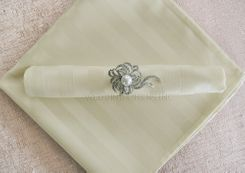 Striped Damask Jacquard Polyester Napkins - Ivory 86002 (10pcs/pk)