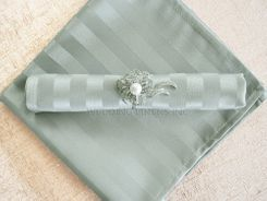 Striped Damask Jacquard Polyester Napkins - Silver 86040 (10pcs/pk)