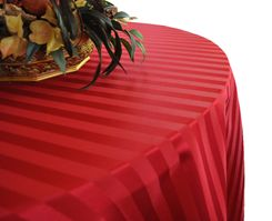 Striped Jacquard Polyester Tablecloths