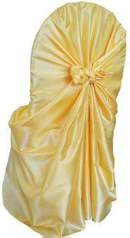 Taffeta Universal Chair Covers- Canary Yellow(1pc/pk)