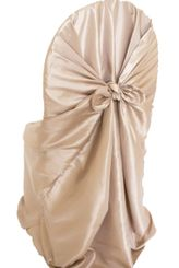 Taffeta Universal Chair Covers- Champagne(1pc/pk)