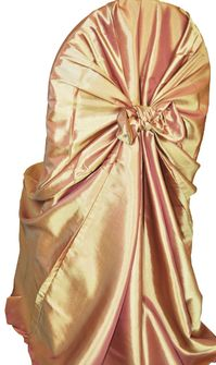 Taffeta Universal Chair Covers- Gold(1pc/pk)