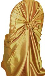 Taffeta Universal Chair Covers - Gold 61027(1pc/pk)