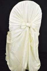 Taffeta Universal Chair Covers - Ivory 61002(1pc/pk)