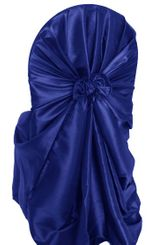 Taffeta Universal Chair Covers - Navy Blue 61023 (1pc/pk)