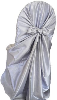 Taffeta Universal Chair Covers- Platinum(1pc/pk)
