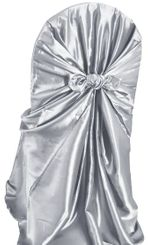 Taffeta Universal Chair Covers - Platinum 61050(1pc/pk)
