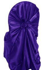 Taffeta Universal Chair Covers - Regency Purple 61063 (1pc/pk)
