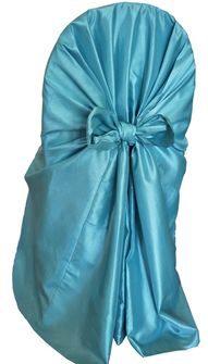 Taffeta Universal Chair Covers- Tiff Blue / Aqua Blue 61018(1pc/pk)
