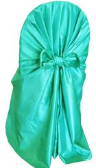 Taffeta Universal Chair Covers - Tiff Blue / Aqua Blue 61018(1pc/pk)