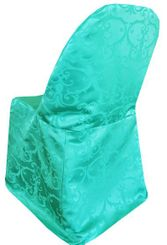 Versailles Chopin Damask Jacquard Polyester Folding Chair Covers (10 Colors)