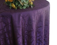 Versailles Chopin Jacquard Damask Polyester Tablecloths