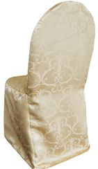 Versailles Chopin Jacquard Polyester Banquet Chair Cover-Champagne 93228 (1pc/pk)
