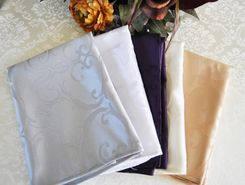 Versailles Chopin Jacquard Polyester Napkins (14 colors)