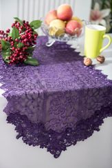 Vintage Chantilly Lace Embroidered Table Runner (5 Colors)